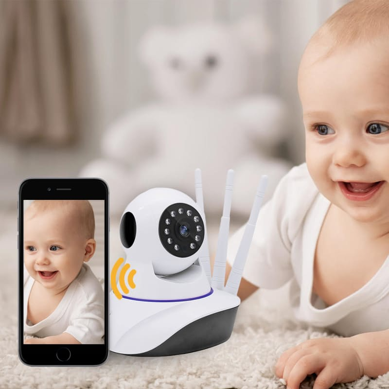 Wireless 360-Degree Mountable Indoor HD Baby Monitor with Two-Way Audio