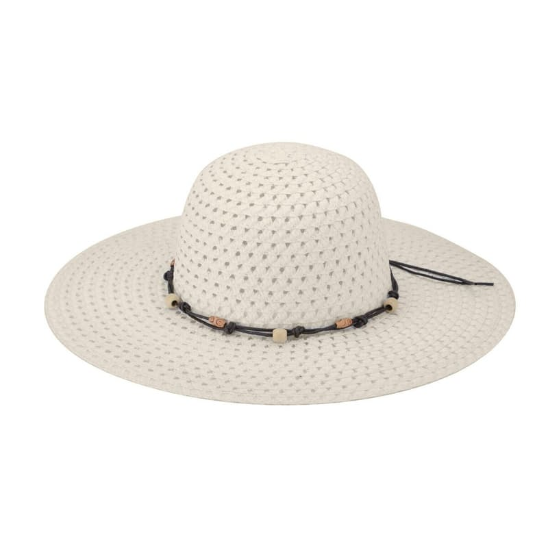 Broad Toyo Straw Beaded Beach Hat