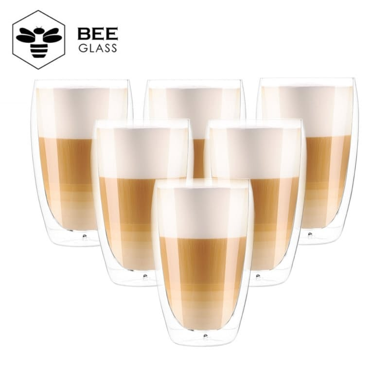 466ml Double Walled Coffee Glasses