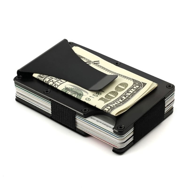 Aluminum Card Wallet with Money Clip