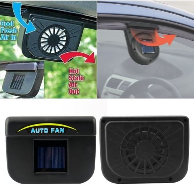Pack of 2 Solar Powered Automatic Car Extractor Fans