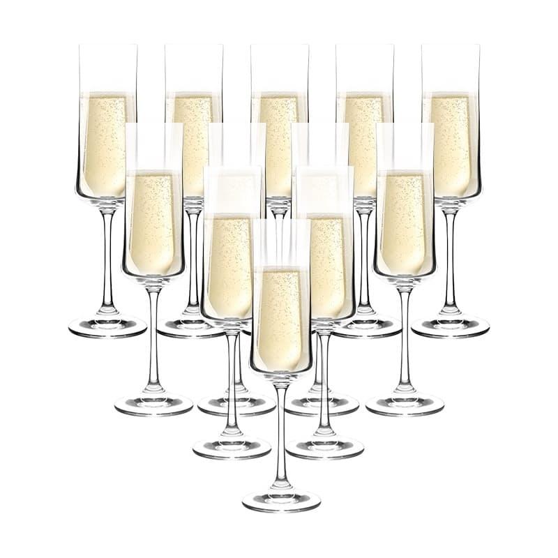 Set of 12 280ml Times Square Champagne Glasses