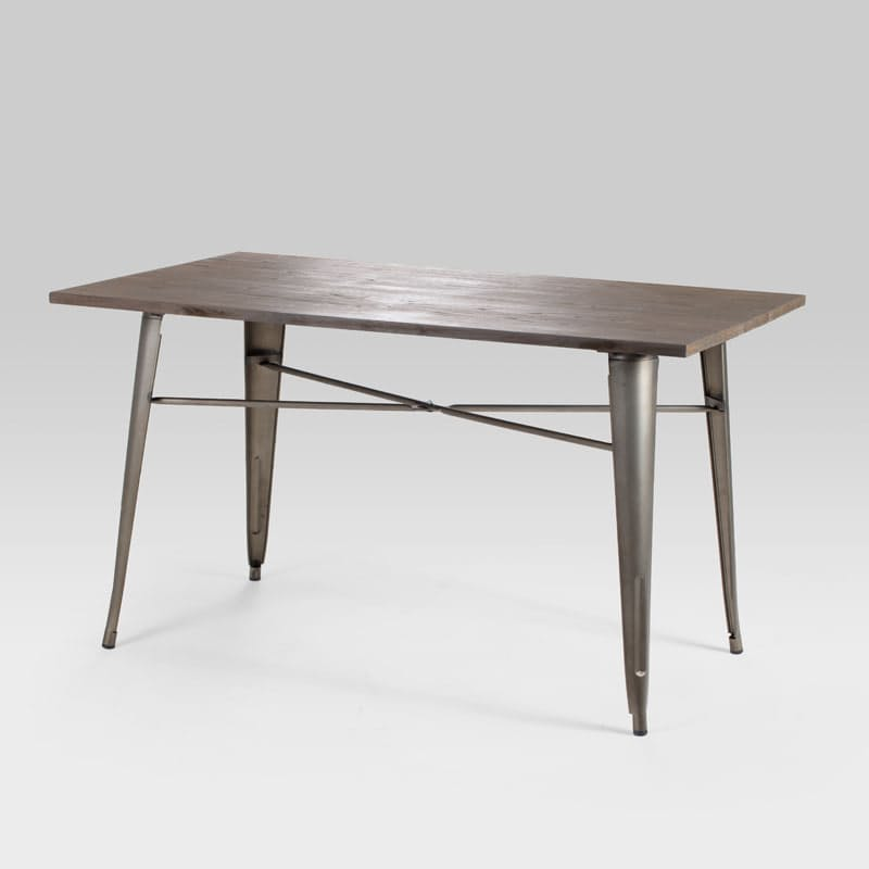 Metal Weathered Bronze Dining Table