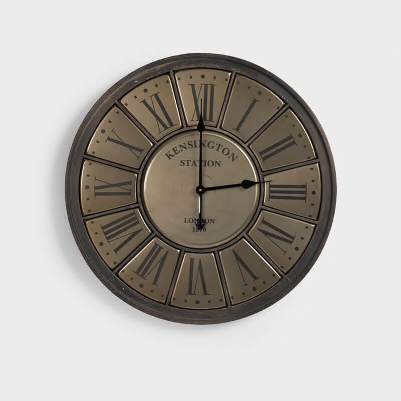 Kensington Station Vintage Iron Wall Clock - 68cm x 68cm
