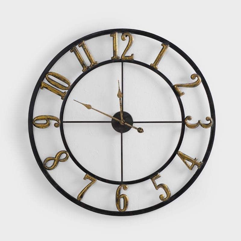 Weathered Gold Clock - 80cm x 80cm