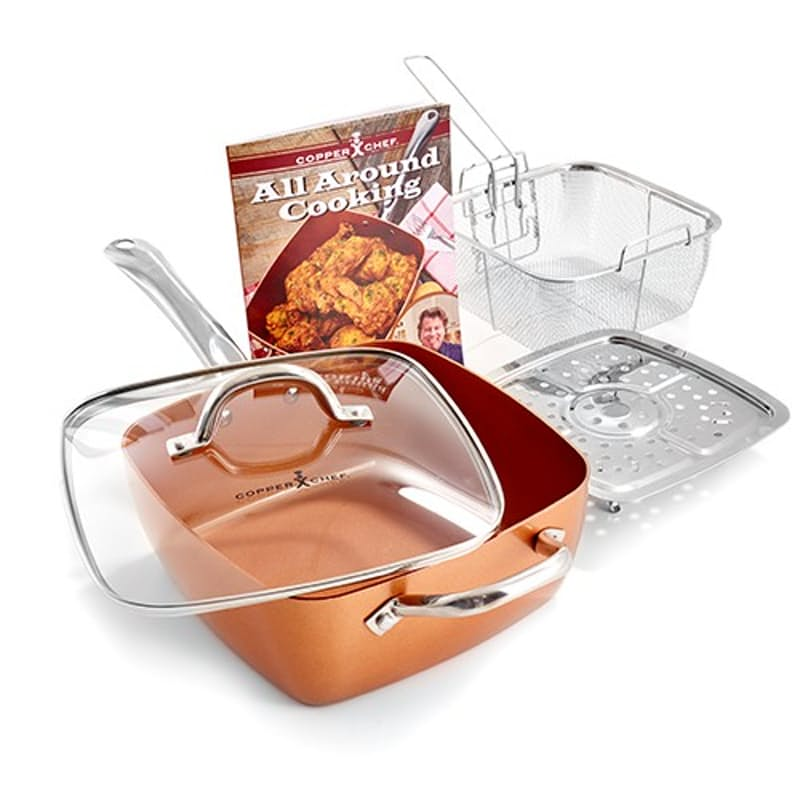 Non-Stick 24cm Deep Dish Square Pan with Accessories (5 Piece Set)