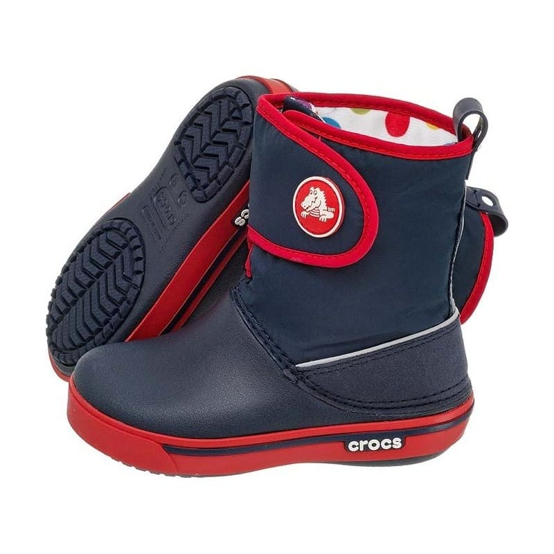 Kids Navy/Red Crocband II.5 Gust Boot