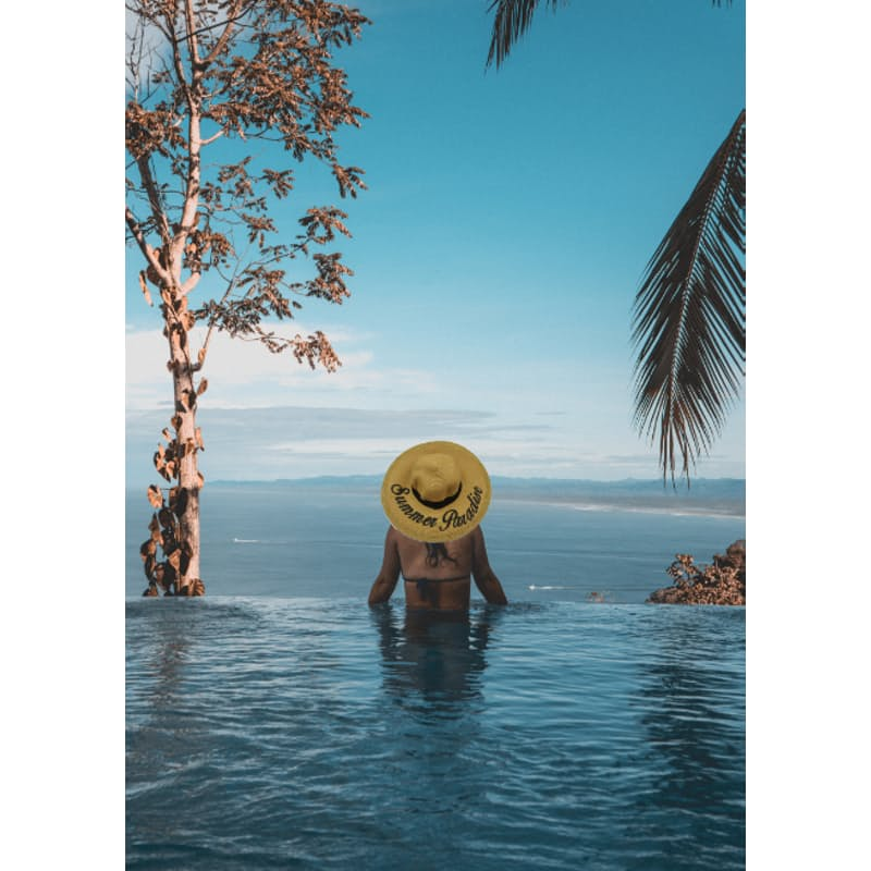 Broadrim Summer Printed and Embroidered Straw Hat (More options available)