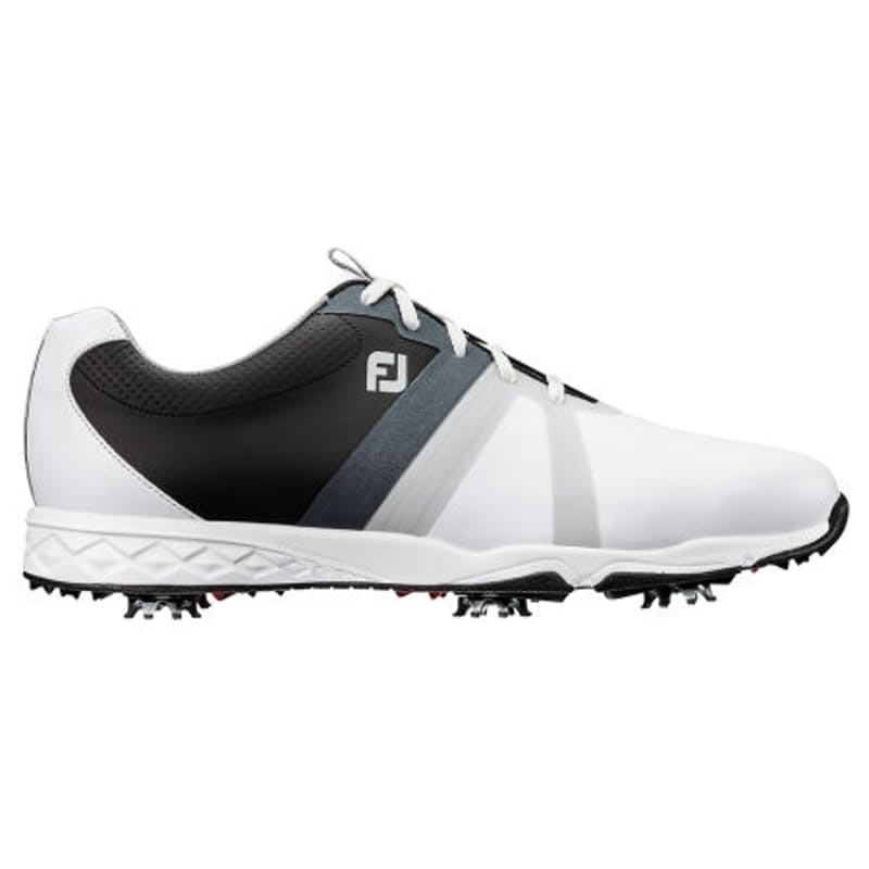 Men's Black And White Energize Golf Shoes