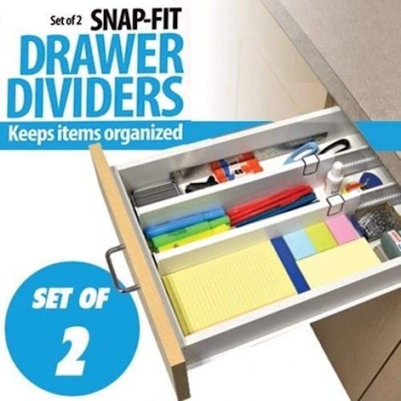 Set of 2 Adjustable Drawer Dividers
