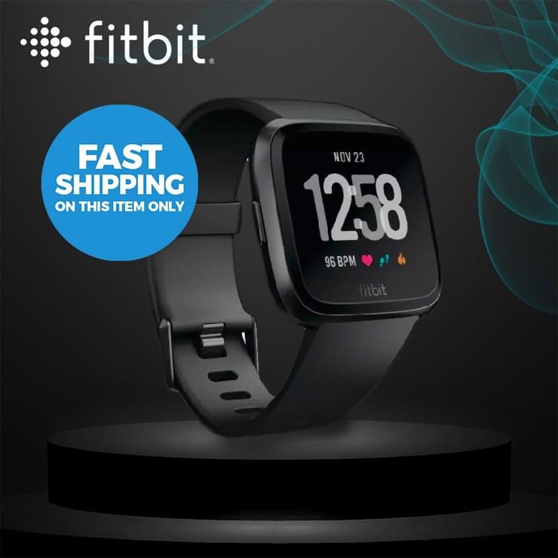 Versa Black/Black Aluminium Smart Health and Fitness Tracker Watch