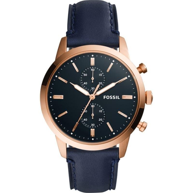 Men's Townsman Navy Leather Watch