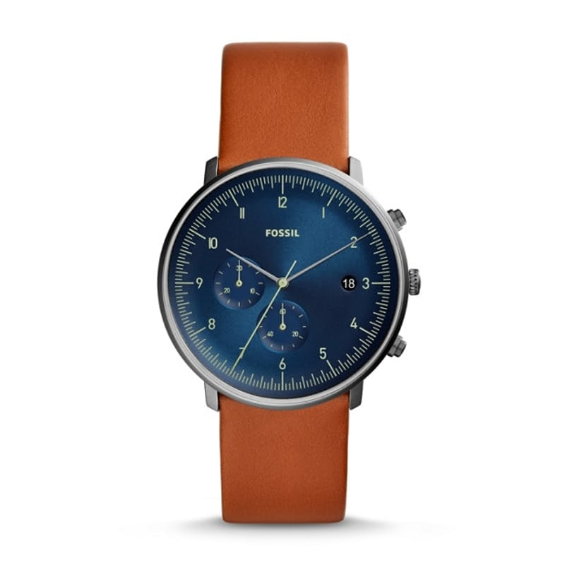 Men's Chase Timer Chronograph Luggage Leather Watch