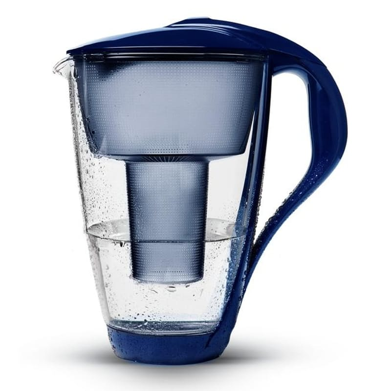 2L Glass Water Filter Jug with Cartridge