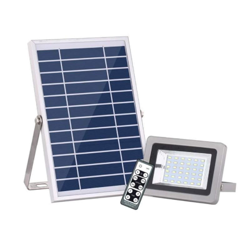 7W Solar Panel with 18W 36 LED Flood Light with Remote