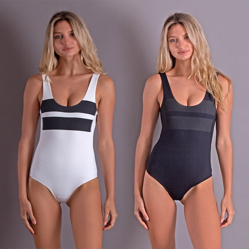 Ladies Quick Dry Low Back Full Swimsuit