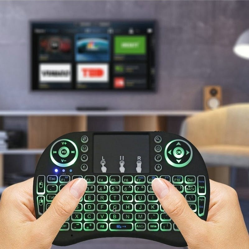 2.4G Wireless Mini Handheld Keyboard with Touch Pad Function Mouse with Backlight