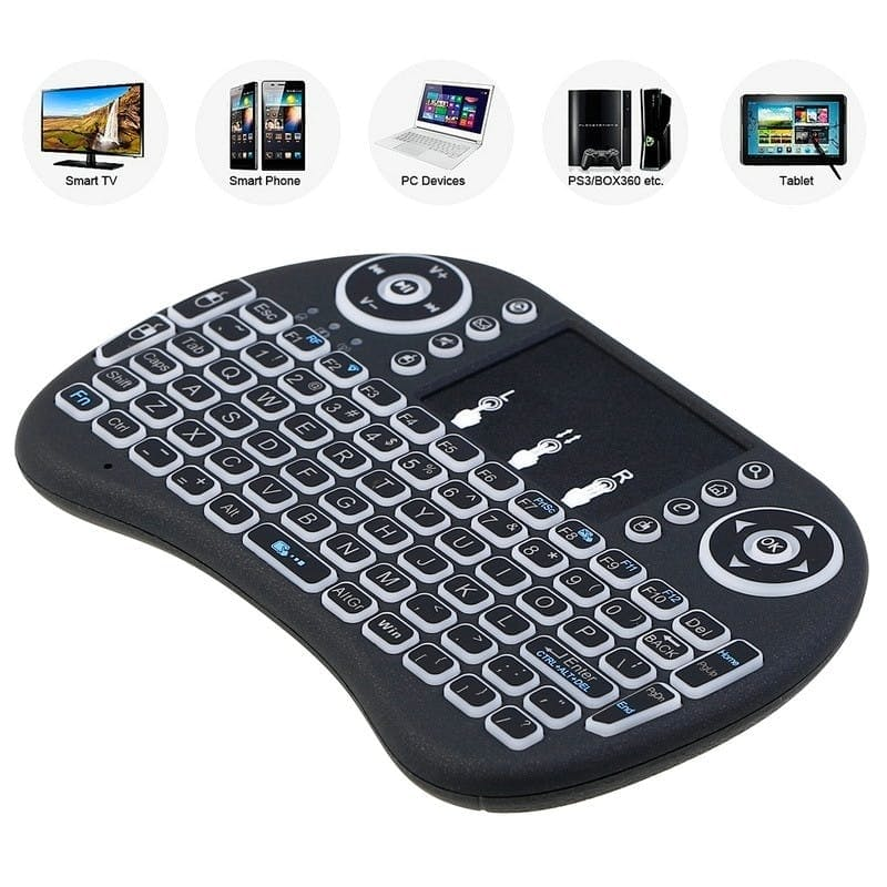 2.4G Wireless Mini Handheld Keyboard with Touch Pad Function Mouse