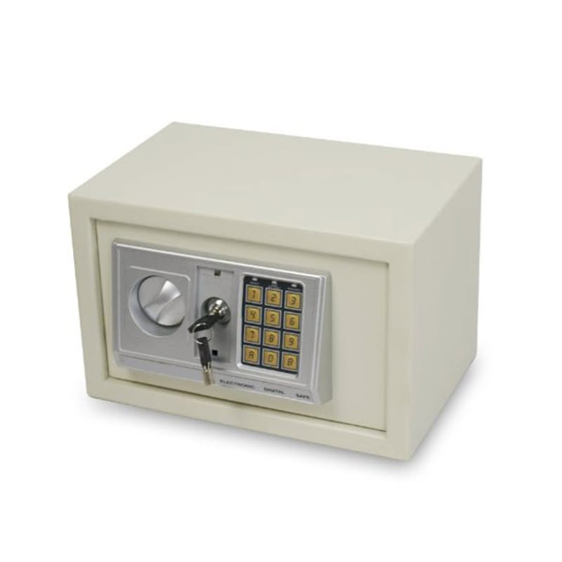 White Large Electronic Safe with Override Key