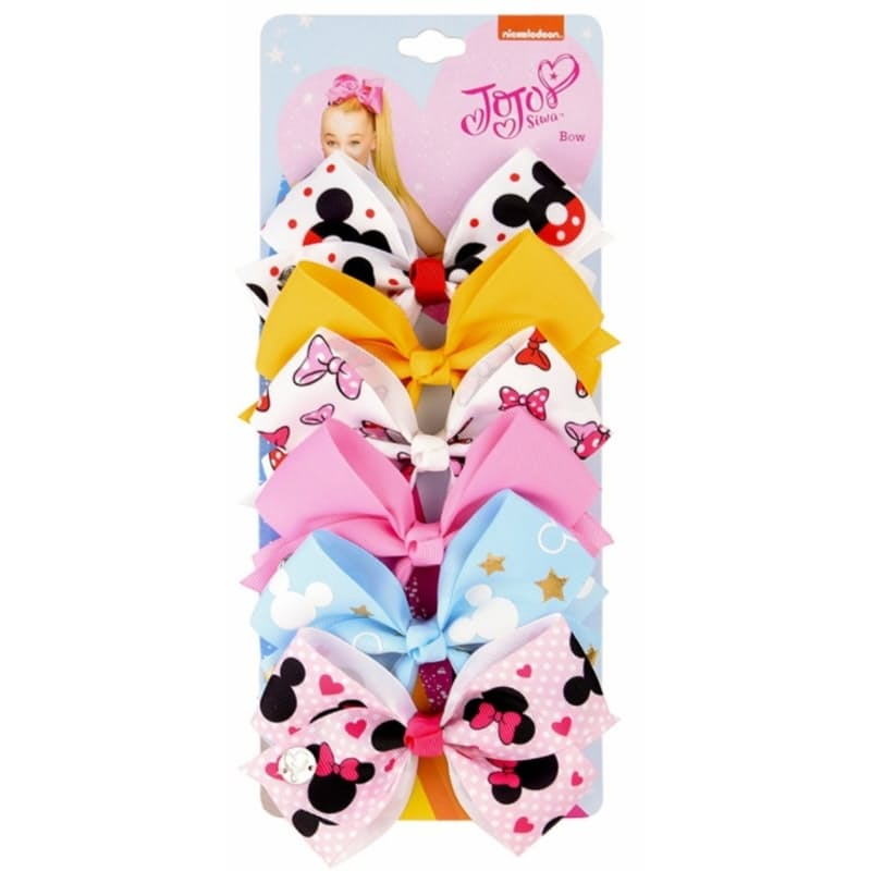 Pack Of 6 Colourful And Fun Clip-On Bows