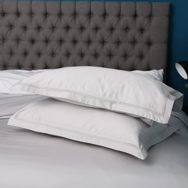 Set of 2, 400 Thread Count Egyptian Cotton Pleated Oxford Pillowcases