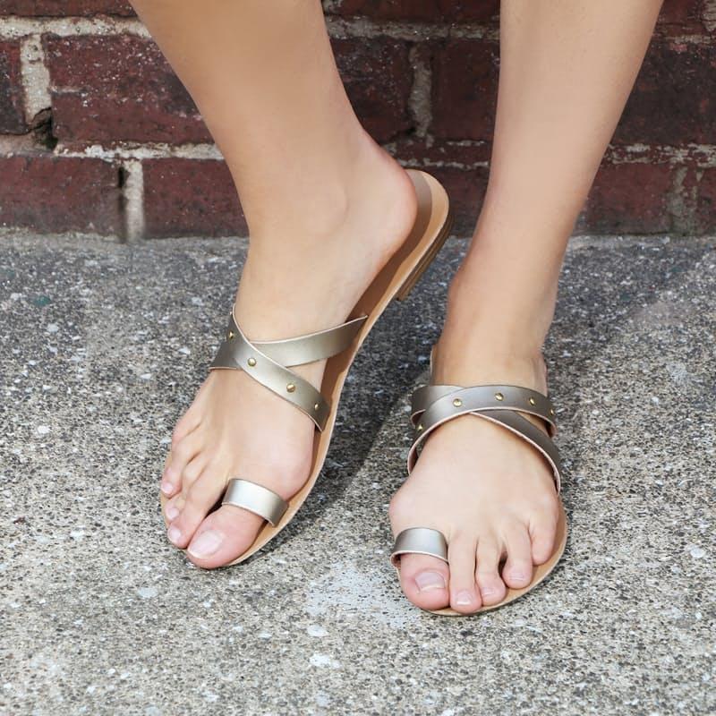 Metallic Slip-on Sandal