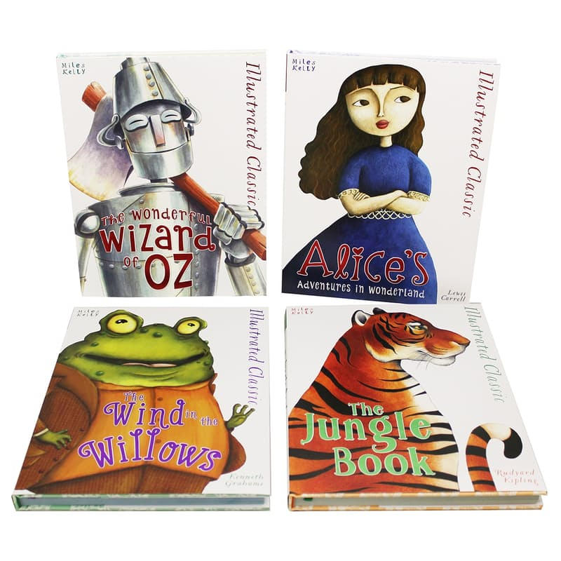 Children's A4 Hardcover Illustrated  Classics Book Bundle (4 Books)