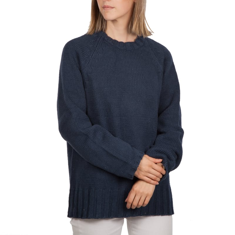 Ladies Long Sleeve Knitted Pullover