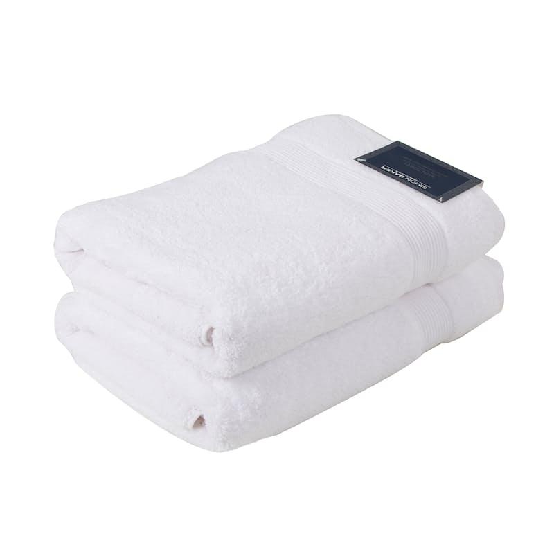 Set of 3, 100% Cotton 650gsm Zero Twist Bath Towels (No Tags)