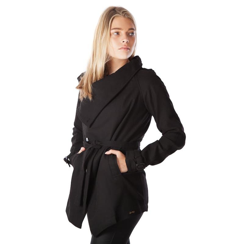 Ladies Black Side Button Jacket