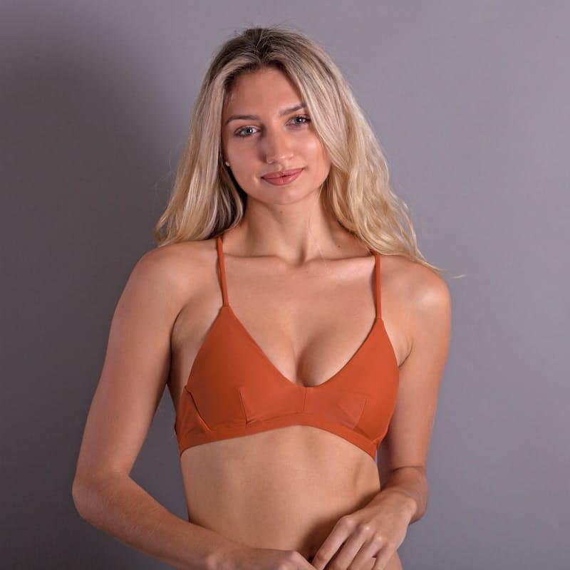 Ladies Quick Dry Criss-Cross Bikini Top