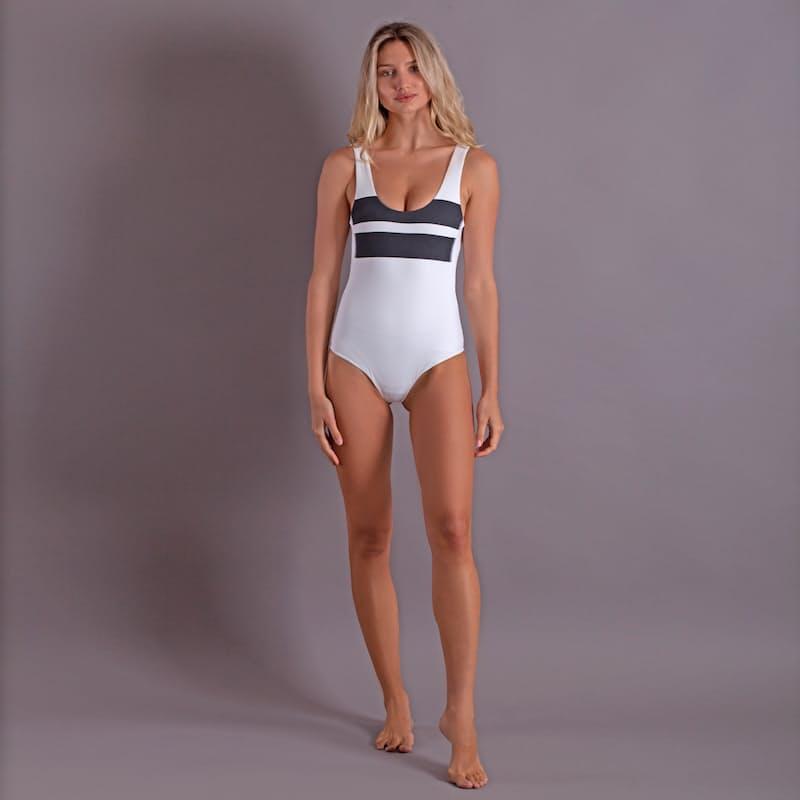 Ladies Quick Dry Low Back Full Swimsuit