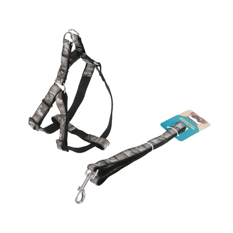 44% off on Woof Reflective Dog Harness with Fixed Leash