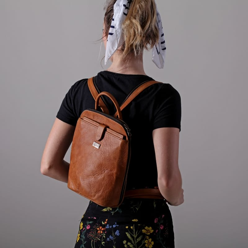 Olivia Genuine Leather Backpack (Multiple Colours Available)