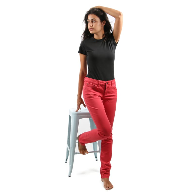 Long Tube Regular Rise and Fit Pants