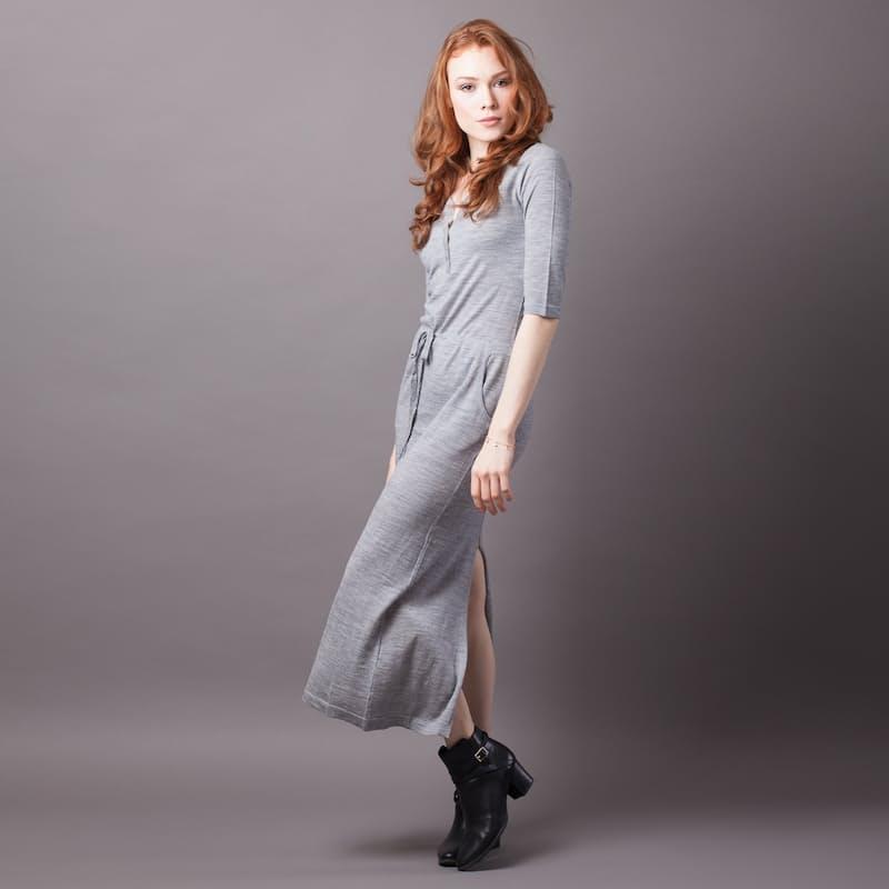 100% Merino Wool Jogger Dress