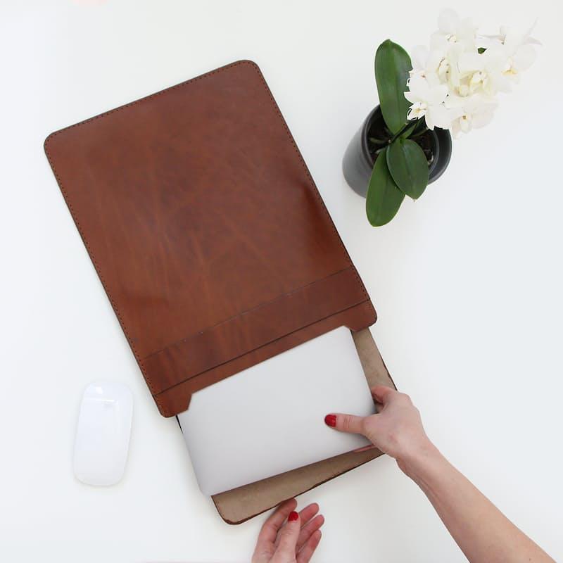 Genuine Leather Mac Laptop Sleeve
