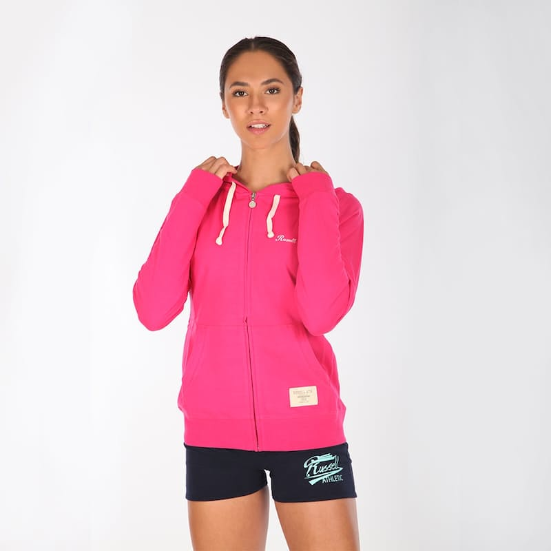 Ladies Zip Through Hoodie With Embroidered Logo