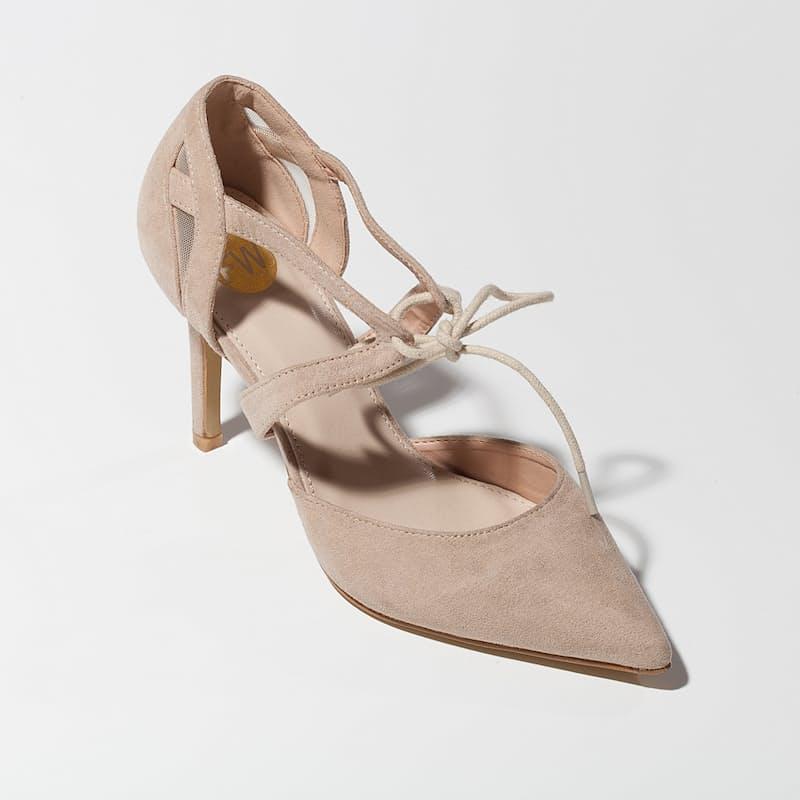 Violet High Heel Court Shoes