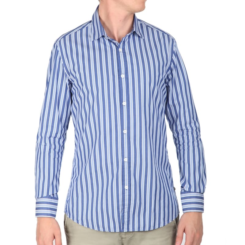Men's Classic Striped Tailored Shirt