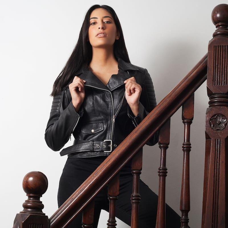 Zarah Ladies Leather Biker