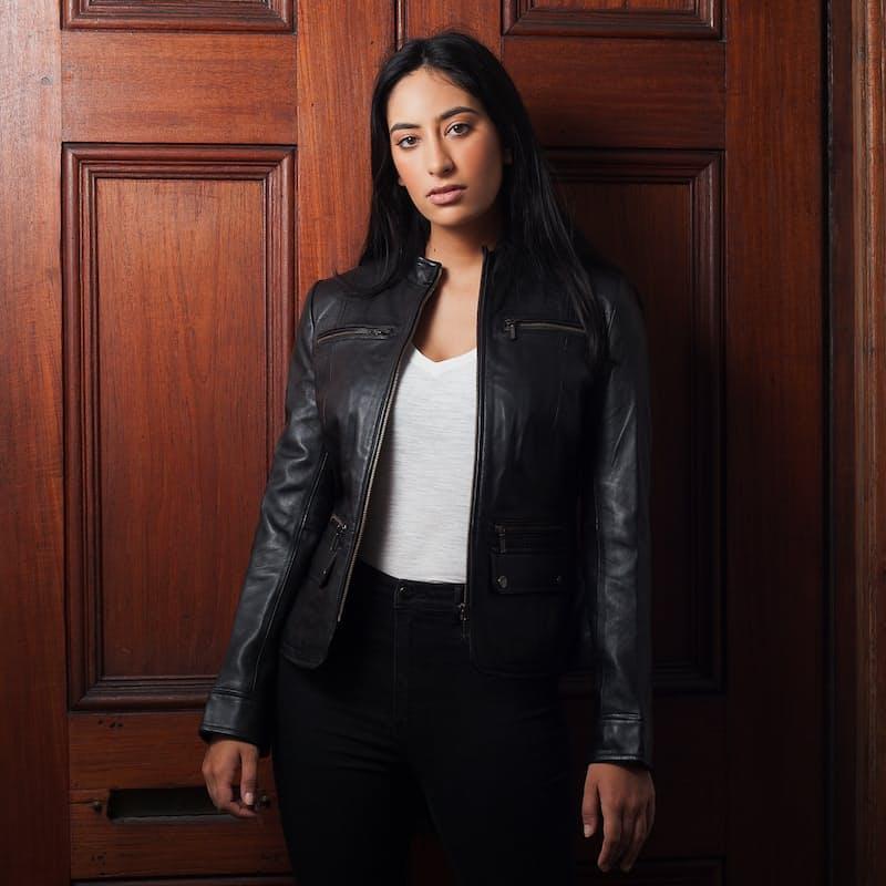 Women's New Yorker Soft Nappa Leather Jacket