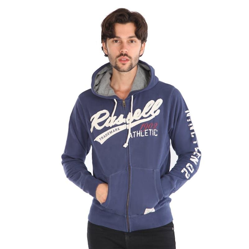 Men's Hooded Zip Through Sweater With RA Trademark