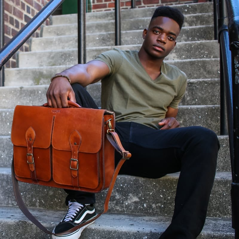 Genuine Leather Jasper Satchel Bag