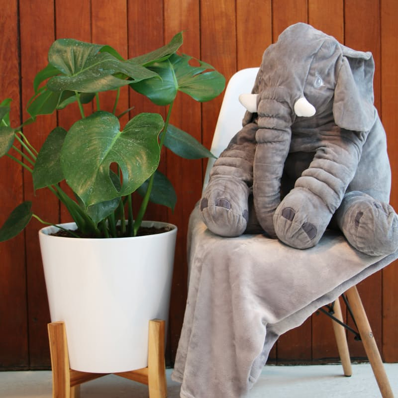 Plush Ellie Cushion with Belly Blanket