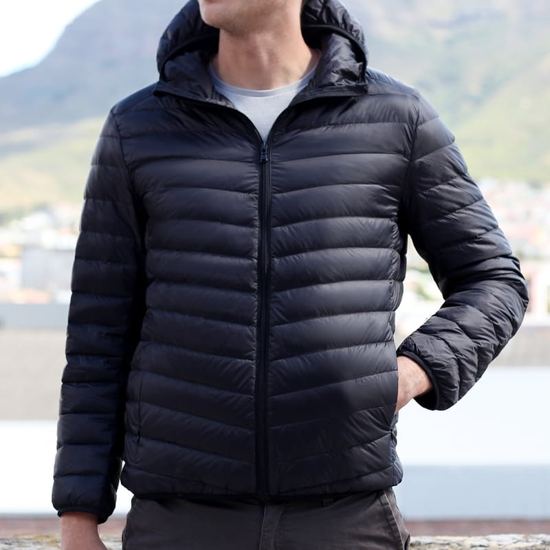 Men's Ultra-Light Genuine-Down Classic, Hooded or Sleeveless Puffer Jackets