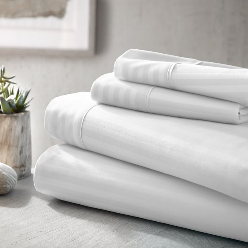 250 Thread Count Cotton Blend 4-Piece Sheet Set (Standard or Extra Length)
