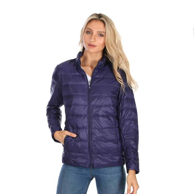 Ladies Ultra-Light Genuine-Down Fitted Puffer Jackets (More Colours Available)