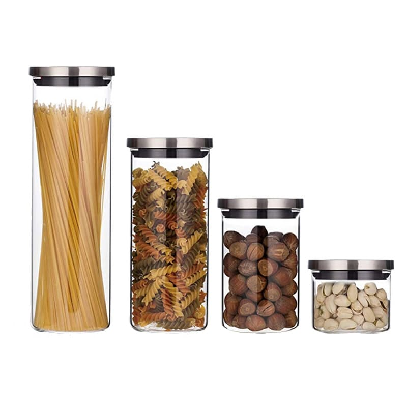 Set of 4 Glass Storage Jars