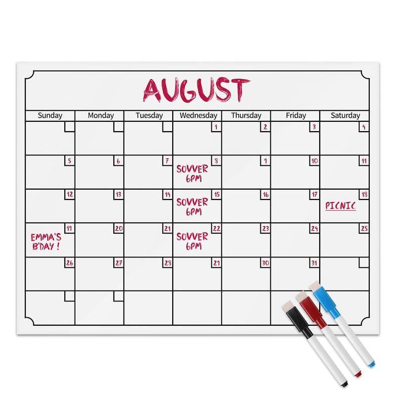 Pack of 2 Magnetic Fridge Calendar
